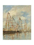 Yacht Basin at Trouville-Deauville  c1895-6