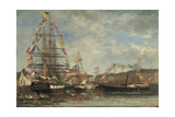 Festival in the Harbour of Honfleur  1858