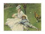 Madame Monet and Her Son  1874