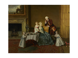 John  Fourteenth Lord Willoughby de Broke  and His Family  c1766