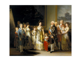 The King and Queen of Spain  Charles IV and Maria Luisa  with Their Family  1800