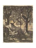 A Man Reading in a Garden  1825-79
