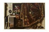 Trompe l'oeil A Cabinet in the Artist's Studio  1670-71