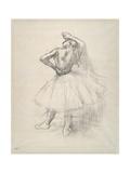 Danseuse debout  le bras droit levé   c1891