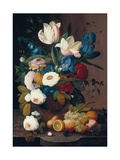 Still Life  Flowers and Fruit  1848