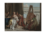 Alexander the Great and Campaspe in the Studio of Apelles  c1740