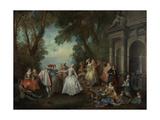 Dance before a Fountain  c1724