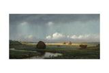 Sudden Shower  Newbury Marshes  1865-75
