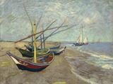 Fishing Boats on the Beach at Saintes-Maries-de-la-Mer  1888