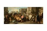 Theseus Taming the Bull of Marathon  c1730