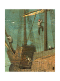 Ship rigging detail from Tower of Babel  1563
