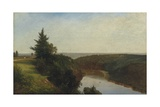 View on the Genesee near Mount Morris  1857