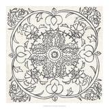 B&W Batik Rosette IV