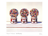 Three Machines (1963) Reproduction d'art par Wayne Thiebaud