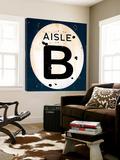 Blue Aisle B Toile Murale Géante par JB Hall