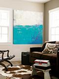 Aqua White Toile Murale Géante par Don Bishop