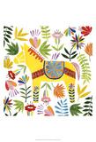 Festivités chez les Otomis III, Mexique Reproduction d'art par Grace Popp