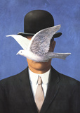 L'homme au chapeau melon (No Border) Reproduction d'art par Rene Magritte