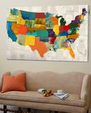 Collaged US Map Toile Murale Géante par THE Studio