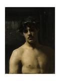 Man Wearing Laurels  1874-80