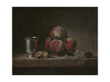 Still Life with Peaches  a Silver Goblet  Grapes  and Walnuts  c1759-60