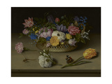A Still Life of Flowers  a Dragonfly and a Red Admiral  1614