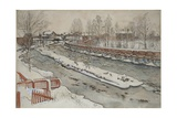 The Timber Chute  Winter Scene  from 'A Home' series  c1895