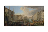 Regatta on the Grand Canal in Honor of Frederick IV  King of Denmark  1711