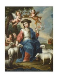 The Divine Shepherdess (La Divina Pastora)  c1760