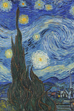 The Starry Night  June 1889 (Detail)