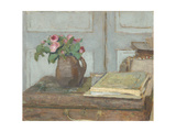 The Artist's Paint Box and Moss Roses  1898