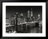 Pont de Brooklyn, New-York Reproduction encadrée par Henri Silberman