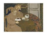 Two Women Drinking Coffee  c1893