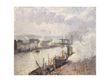 Steamboats in the Port of Rouen  1896