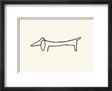 Le chien Reproduction encadrée par Pablo Picasso