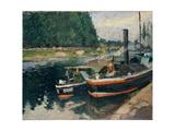 Barges at Pontoise  1876