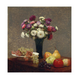 Asters and Fruit on a Table  1863