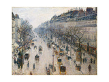 The Boulevard Montmartre on a Winter Morning  1897