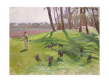 Landscape with Goatherd  1890–91
