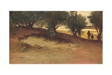 Sand Bank with Willows  Magnolia  1877