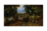 A Woodland Road with Travelers  1607