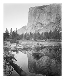 Mirror View - El Capitan, Yosemite Reproductions de collection premium par Carleton E Watkins