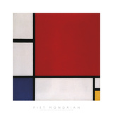 Composition with Red, Blue and Yellow, 1930 Reproduction d'art par Piet Mondrian