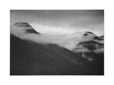 "Mountain Partially Covered With Clouds ""In Glacier National Park"" Montana 1933-1942"