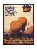 NY Herald Gordon Bennet Trophy Organizes Annual Contest  Spherical Balloons  Shown Swiss Helvetia