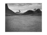 "Looking Across Toward Snow-Capped Mts Lake In Fgnd ""St Mary's Lake Glacier NP"" Montana 1933-1942"