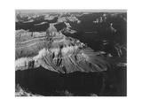 "Dark Shadows In Fgnd & Right Framing Cliffs At Left & Center ""Grand Canyon NP"" Arizona 1933-1942"