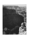 View Of Darkly Shadowed Canyon At Left & Center From South Rim 1941 Grand Canyon NP Arizona  1941