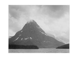 "High Lone Mountain Peak Lake In Foreground ""Two Medicine Lake Glacier NP"" Montana 1933-1942"