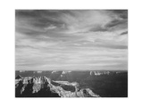 View Of Canyon In Fgnd Horizon Mts & Clouded Sky From North Rim 1941  Grand Canyon NP  Arizona 1941